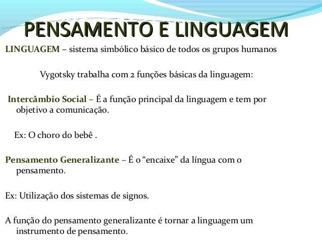 Pensamanto e linguagem - Vygotsky Slide 2