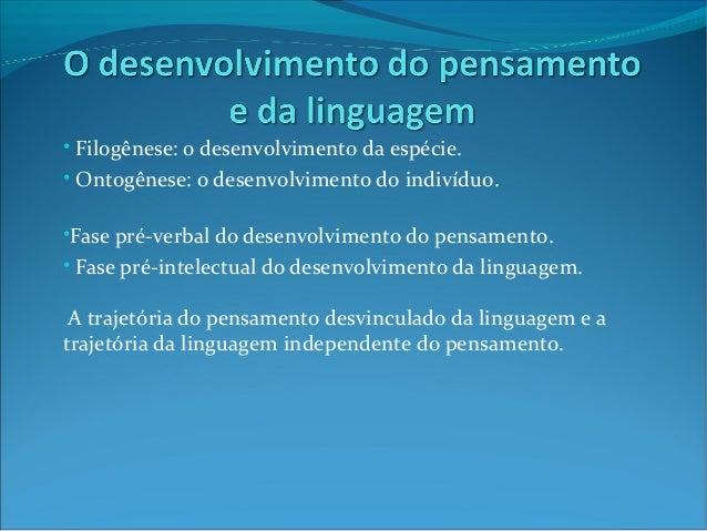 Pensamanto e linguagem - Vygotsky Slide 3