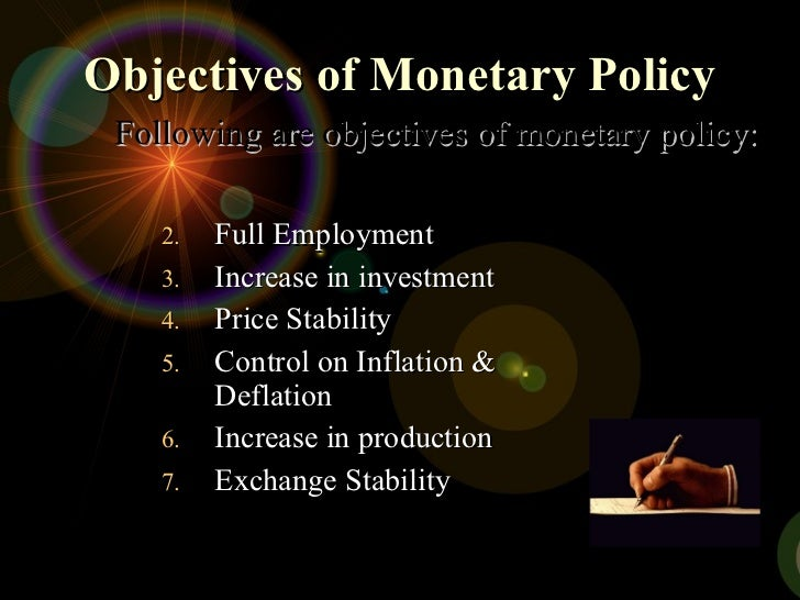 objectives of monetary policy Note introduction i'm planning to spend most of my time today talking about the objectives of monetary policy as you will hear, the fomc has made great progress in formulating, and communicating, the objectives of monetary policy to the public.