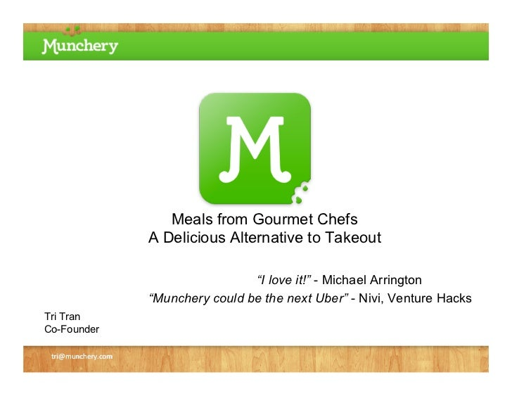 """Meals from Gourmet Chefs                    A Delicious Alternative to Takeout                                     """"I love..."""