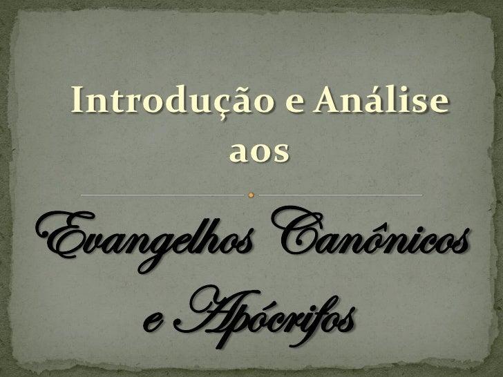 Módulo 1 - Aula 1 - Evangelhos