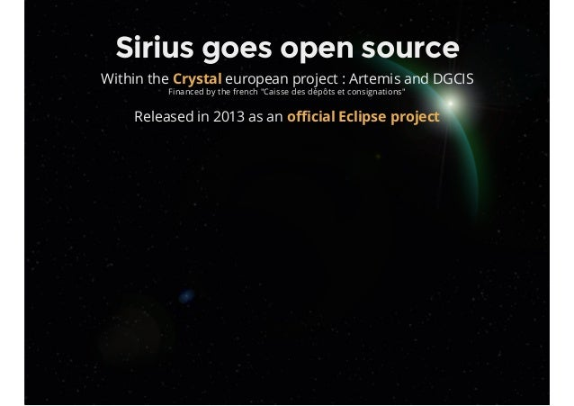 """Sirius goes open source Within the european project : Artemis and DGCIS Financed by the french """"Caisse des dépôts et consi..."""