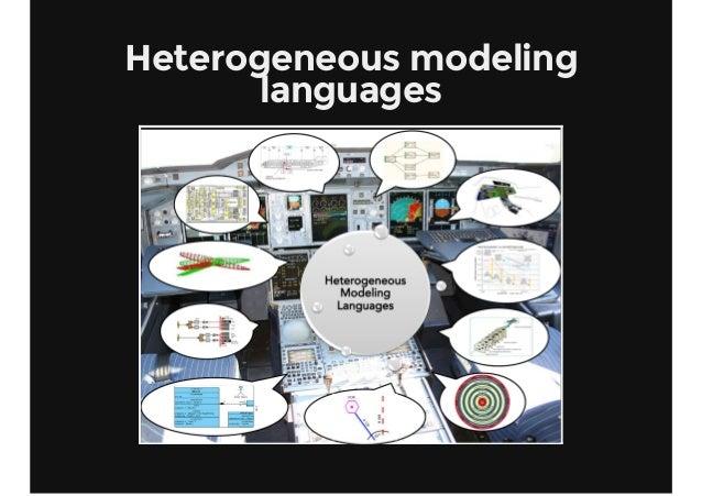 Heterogeneous modeling languages