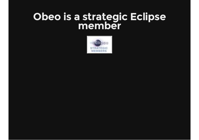 Obeo is a strategic Eclipse member