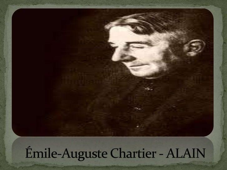 Émile-Auguste Chartier - ALAIN<br />