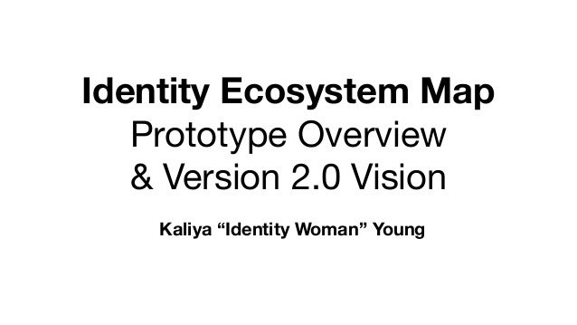 """Identity Ecosystem Map Prototype Overview   & Version 2.0 Vision Kaliya """"Identity Woman"""" Young"""