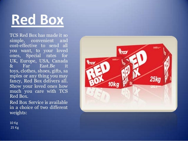 ... 17. Red Box TCS ...