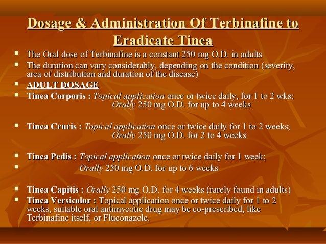 Terbinafine Topical Dosage