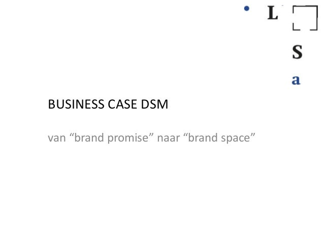 "BUSINESS CASE DSMvan ""brand promise"" naar ""brand space"""