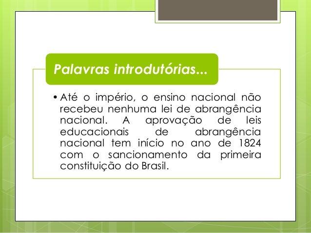 Política e Organização da Educação Brasileira Slide 2