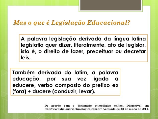 Política e Organização da Educação Brasileira Slide 3