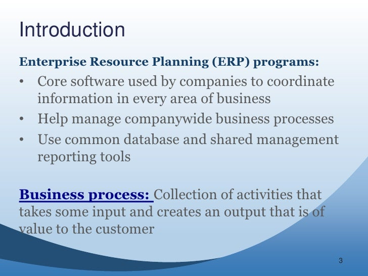 Business Functions Amp Business Processes In Erp