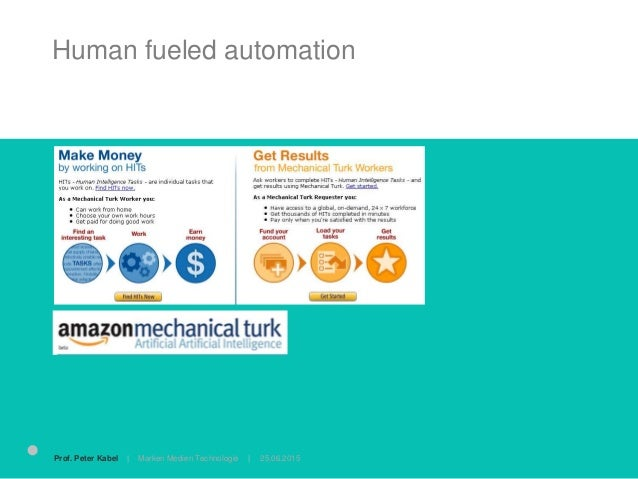 Human fueled automation the dirty secret des silicon valley 25.06.2015Prof. Peter Kabel   Marken Medien Technologie  