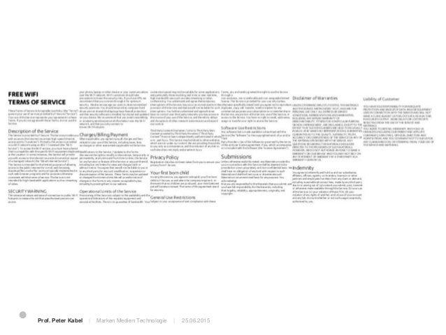 25.06.2015Prof. Peter Kabel   Marken Medien Technologie   Convencience trap