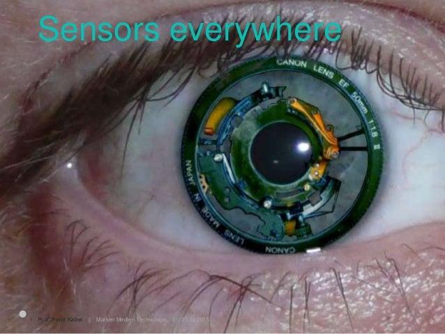 25.06.2015Prof. Peter Kabel   Marken Medien Technologie   Sensors everywhere
