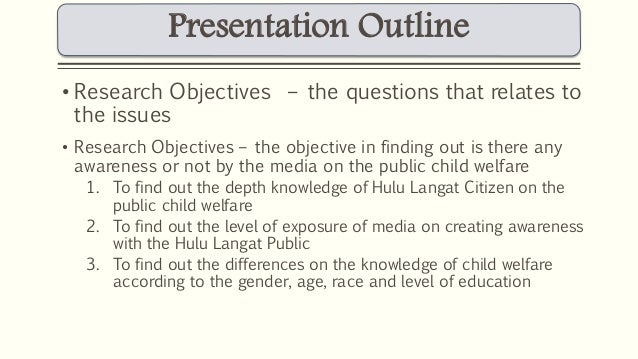 presentation outline research