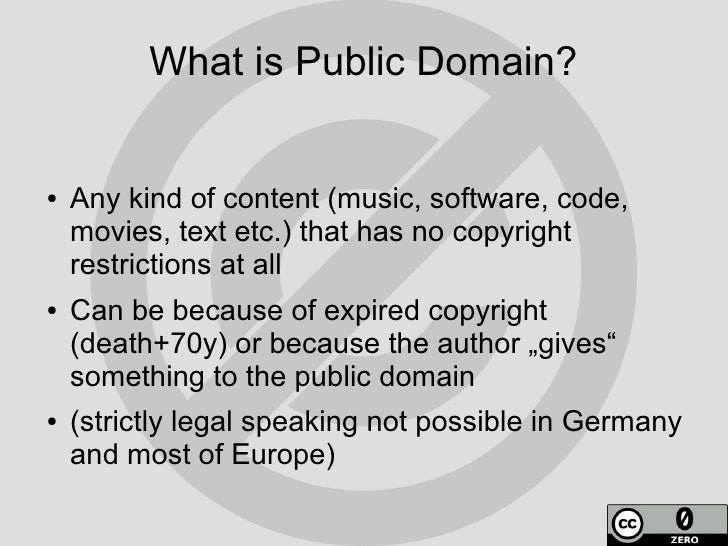 What Is Public Domain