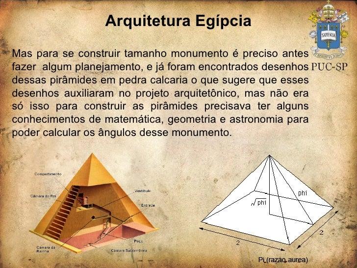 Arquitetura Egípcia Mas para se construir tamanho monumento é preciso antes fazer  algum planejamento, e já foram encontra...