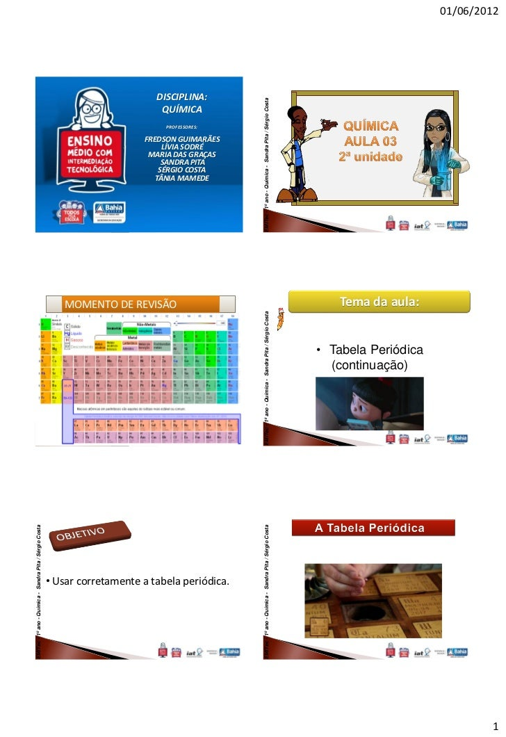 EMITec - 1º ano - Química - Sandra Pita / Sérgio Costa                EMITec - 1º ano - Química - Sandra Pita / Sérgio Cos...