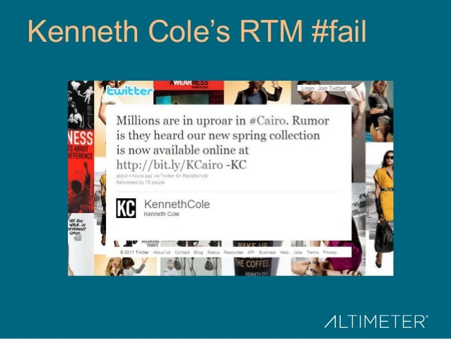 Kenneth Cole's RTM #fail
