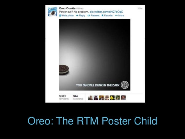 Oreo: The RTM Poster Child