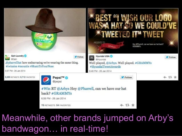 Meanwhile, other brands jumped on Arby's bandwagon… in real-time!
