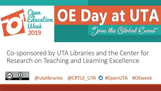 Introduction to OER for Open Education Day at UTA
