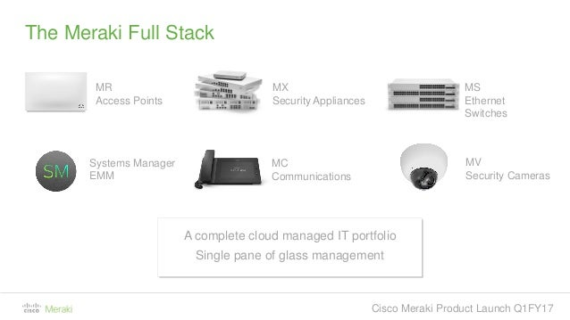 Cisco Meraki Product Launch Q1 2017