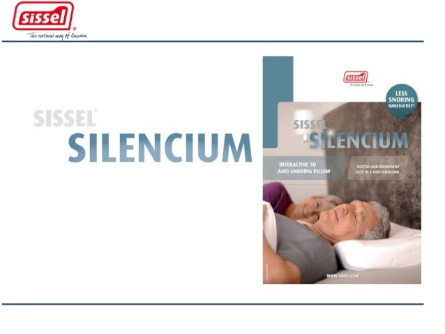 Cuscini Antirussamento.Come Funziona Il Cuscino Antirussamento Silencium Di Sissel