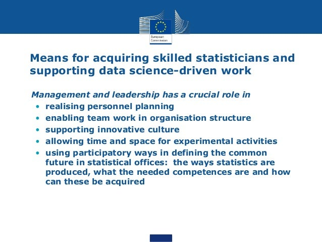 """How can an official statistician become a data scientist? """"The real question is not how a statistician can become a data s..."""