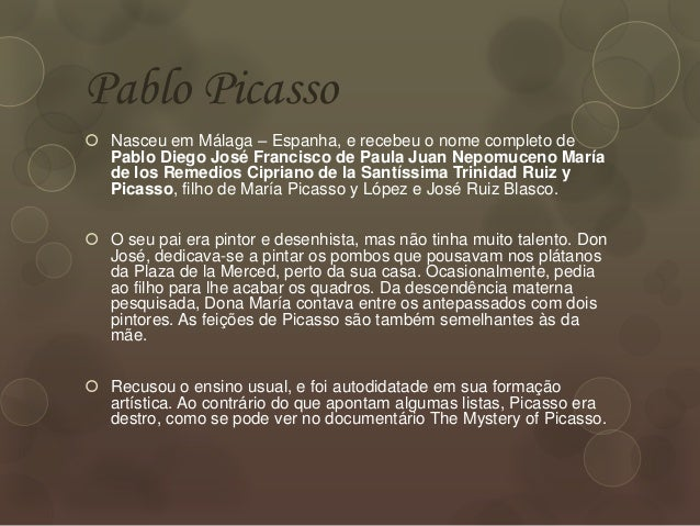 Extremamente Pablo Picasso- Vida e Obra OA04