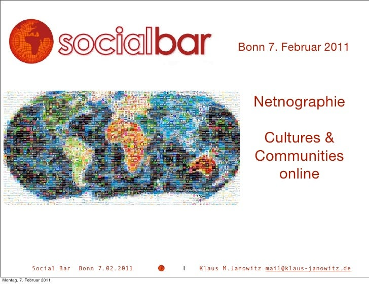 Bonn 7. Februar 2011                                                             Netnographie                             ...