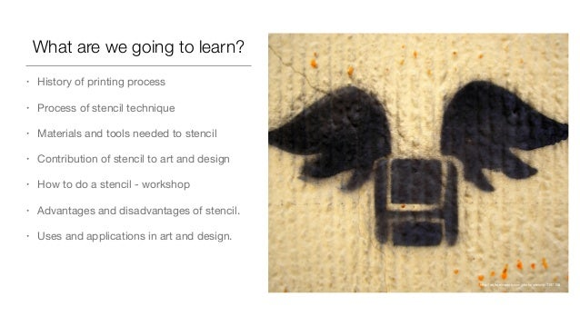 Design & Printmaking: Stencil process