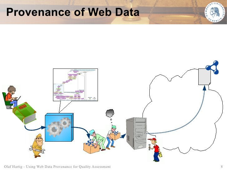 Provenance of Web Data     Olaf Hartig - Using Web Data Provenance for Quality Assessment   8