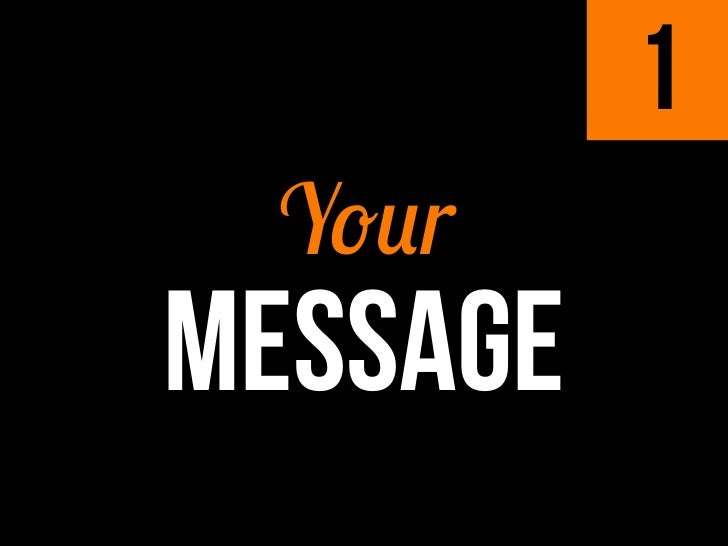 1 YourMESSAGE