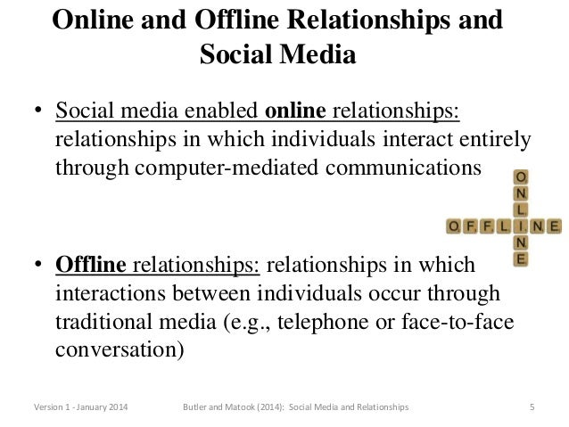 a comparison between computer mediated communication relationships and face to face relationships History and evolution of computer-mediated communication   without long  distance communication, many close relationships will not survive the test of  distance  people can communicate face-to-face, via telephones, letters,  of  cmc to explore whether there is a difference between strategies men.
