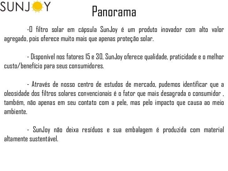 Plano de Marketing - Sunjoy (proteção solar em cápsula) Slide 3