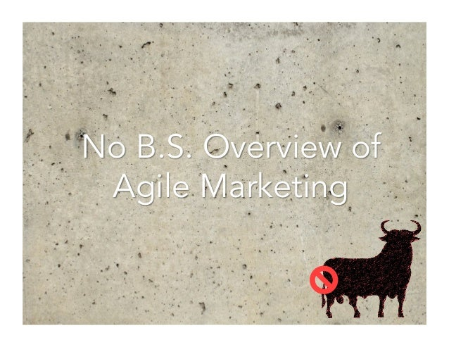 No B.S. Overview of Agile Marketing