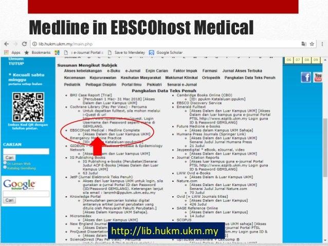 Medline in EBSCOhost Medical MEDLINE Complete provides authoritative medical information on medicine, nursing, dentistry, ...
