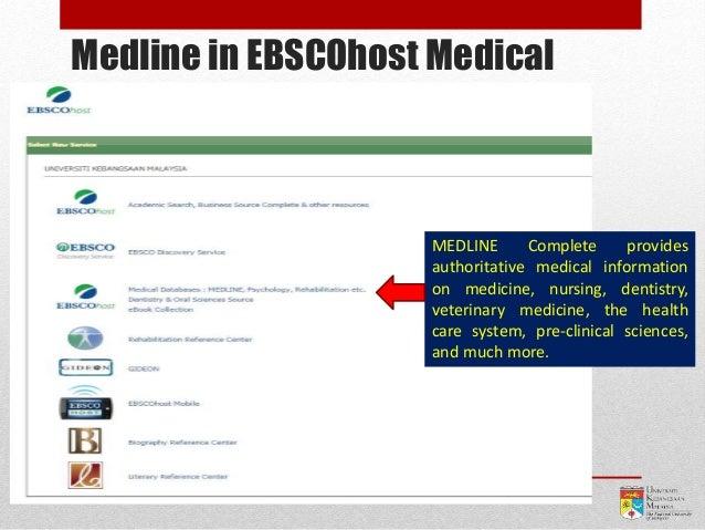 Medline in EBSCOhost Medical