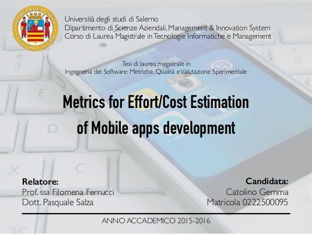 Università degli studi di Salerno Dipartimento di Scienze Aziendali, Management & Innovation System Corso di Laurea Magist...