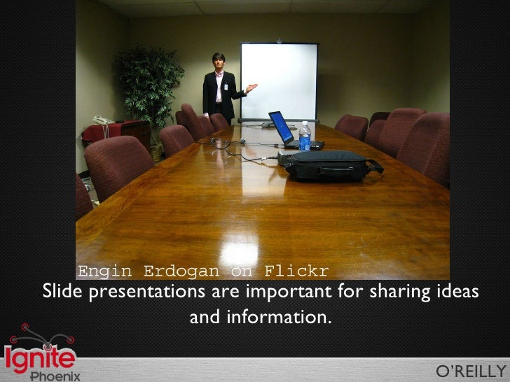 Slide presentations are important for sharing ideas and information.