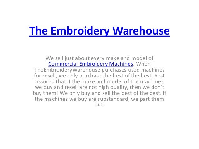 Liquidate Embroidery Equipment How To Buy Used Embroidery Machine F