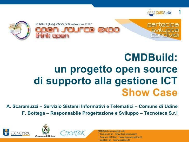 1                                   CMDBuild:                un progetto open source            di supporto alla gestione ...