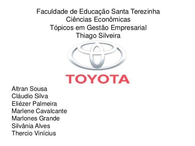 Faculdade de Educação Santa Terezinha Ciências Econômicas Tópicos em Gestão Empresarial Thiago Silveira Altran Sousa Cláud...