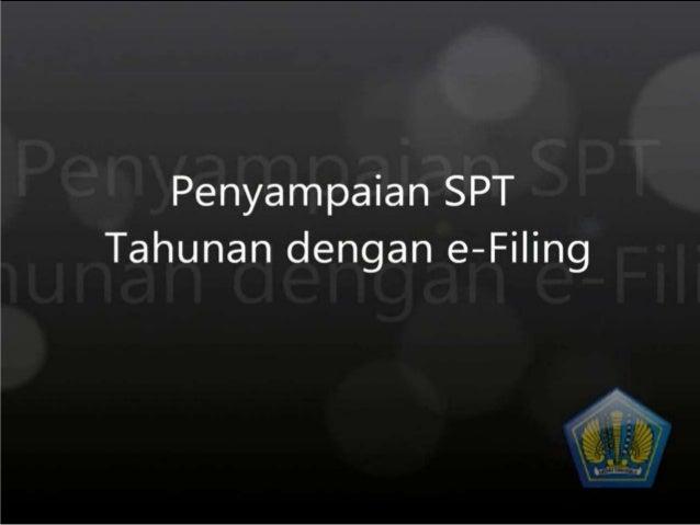 Pilih SPT 1770 SS yang terdapat pada menu E-FILE SPT