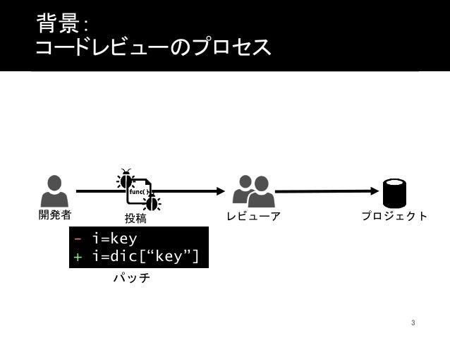 コードレビューを通じて行われるコーディングスタイル修正の分析 Slide 3