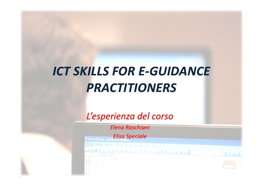 ICT SKILLS FOR E‐GUIDANCE ICTSKILLSFORE‐GUIDANCE ICTSKILLSFORE‐                E       PRACTITIONERS      L'     i ...