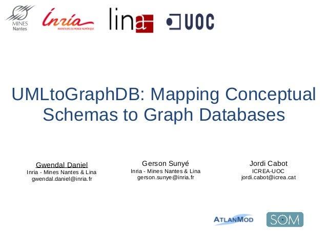 UMLtoGraphDB: Mapping Conceptual Schemas to Graph Databases Jordi Cabot ICREA-UOC jordi.cabot@icrea.cat Gwendal Daniel Inr...