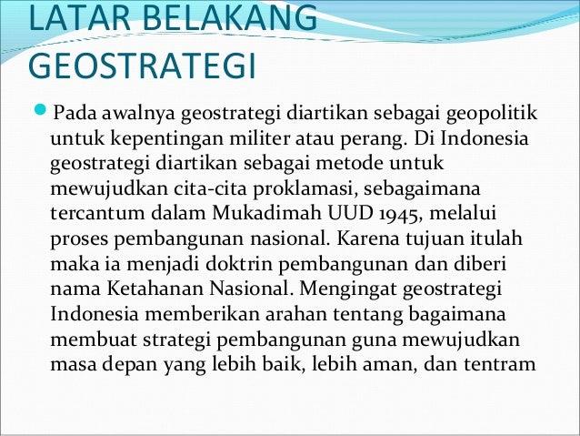 Geostrategi Ketahanan Negara